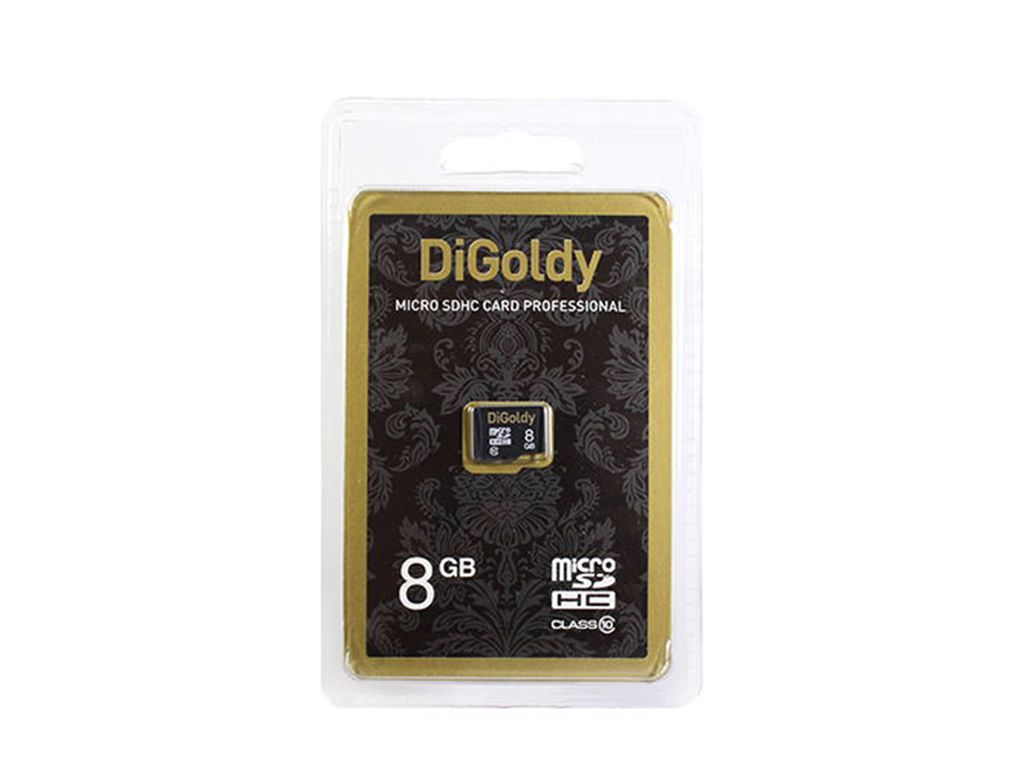 Flash card (Micro SD) 8 GB Digoldy Class 10 без Адаптера